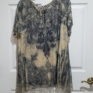 Beautiful Tunic Top with design and little sparkle